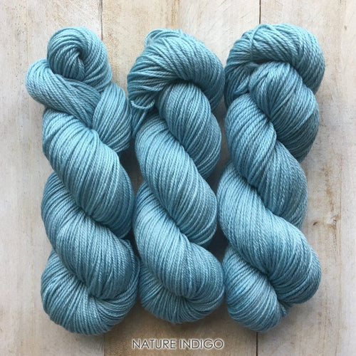 INDIGO by Louise Robert Design | DK PURE hand-dyed yarn, natural dyes