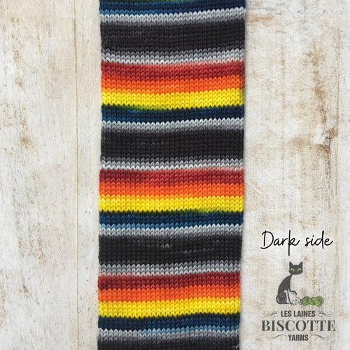 DK PURE | DARK SIDE hand-dyed Self-striping yarn