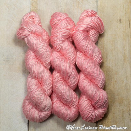 Albus - Merino & Silk Wool ♥ 1 ply knitting wool FRAISE