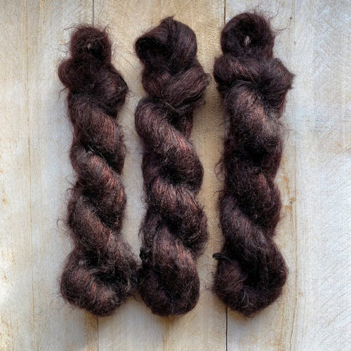 Hand-Dyed Kid Silk Yarn | Hermione CHOCOLAT | 50g