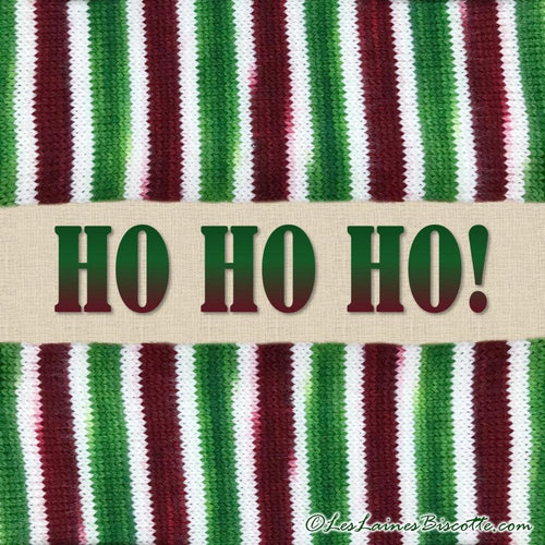SELF-STRIPING yarn - Bis-Sock Ho Ho Ho!