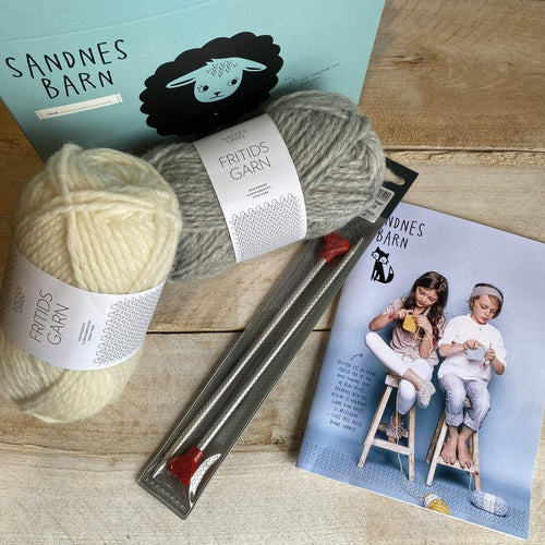 Learn to Knit Kit - Sandnes Barn - Pattern Only in FRENCH