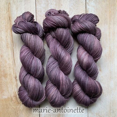 MARIE-ANTOINETTE by Louise Robert Design | SUPER SOCK hand-dyed semi-solid yarn