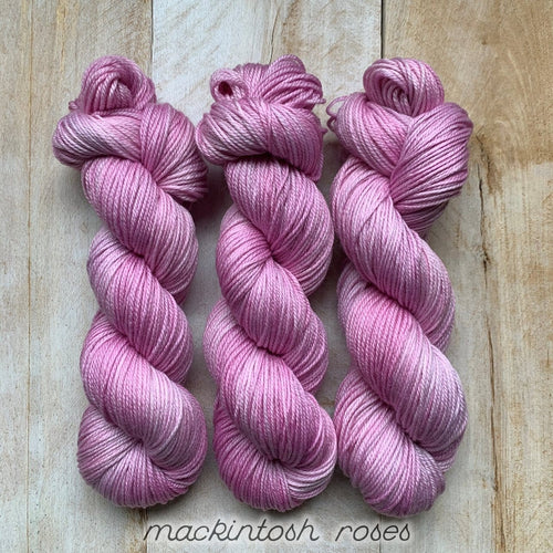 MACKINTOSH ROSES by Louise Robert Design | DK PURE hand-dyed semi-solid yarn