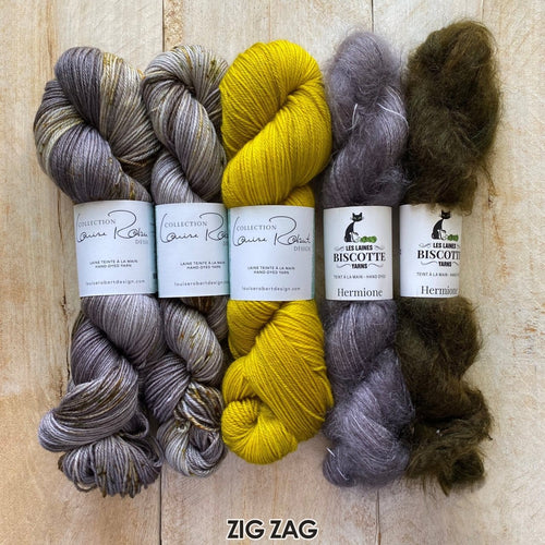 Châle Zigging the Zag | Kit de Tricot