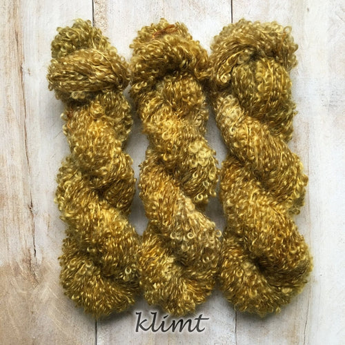 KLIMT by Louise Robert Design | BOUCLE MOHAIR hand-dyed semi-solid yarn