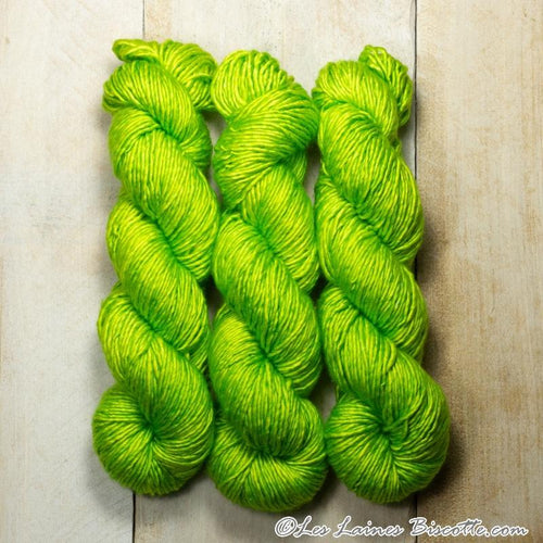 Albus - Merino & Silk Wool ♥ 1 ply knitting wool LIMETTE