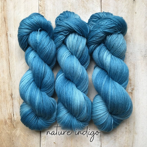 INDIGO by Louise Robert Design | SUPER SOCK hand-dyed yarn, natural dyes