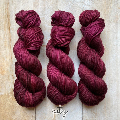 PATSY by Louise Robert Design | MERINO WORSTED hand-dyed semi-solid yarn