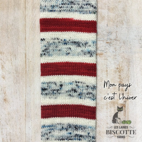 SELF-STRIPING yarn - Bis-Sock Mon pays c'est l'hiver
