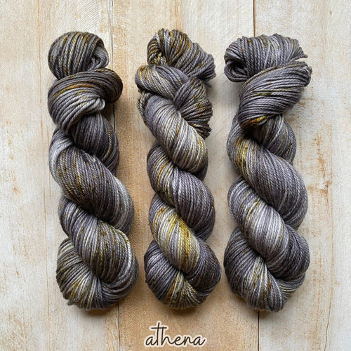 ATHENA by Louise Robert Design | MERINO WORSTED hand-dyed Speckled yarn