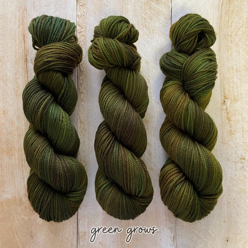 GREEN GROWS MERINO WORSTED