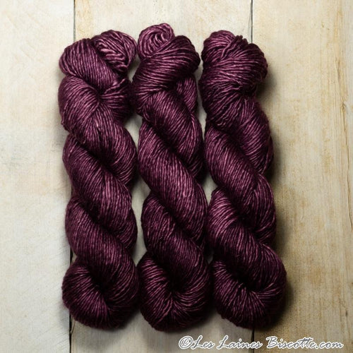 Albus - Merino & Silk Wool ♥ 1 ply knitting wool PRUNEAU
