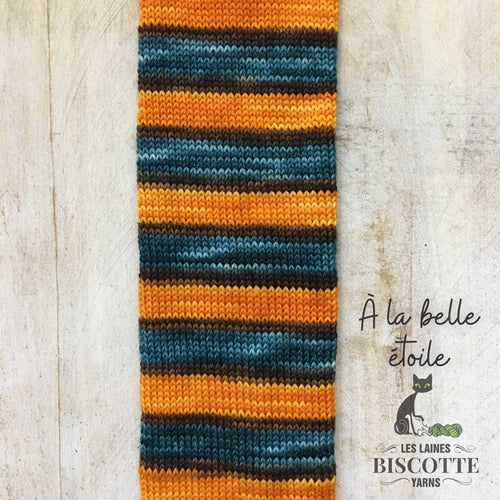 SELF-STRIPING yarn - Bis-Sock A la belle étoile