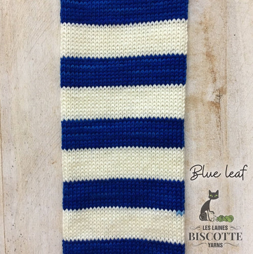 SELF-STRIPING yarn - Bis-Sock Blue Leaf