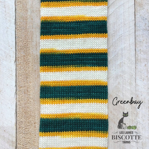 SELF-STRIPING yarn - Bis-Sock Greenbay