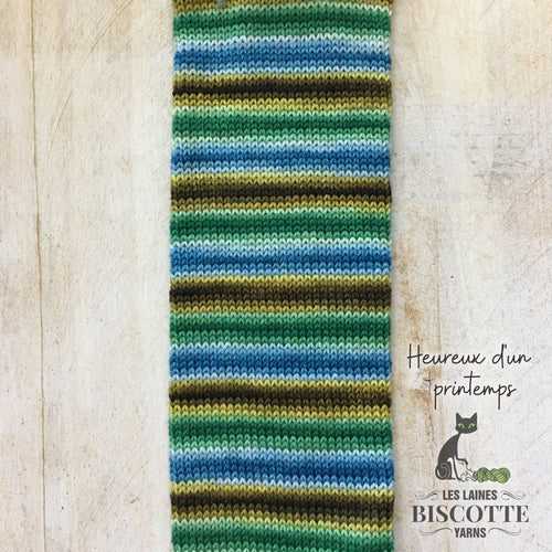 SELF-STRIPING yarn - Bis-Sock Heureux d'un printemps