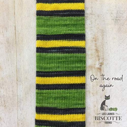 SELF-STRIPING yarn - Bis-Sock On the Road again