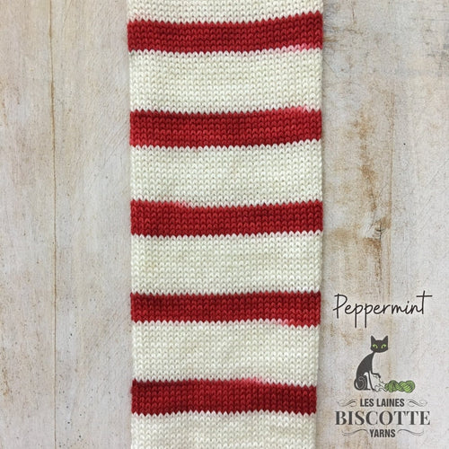 SELF-STRIPING yarn - Bis-Sock Peppermint