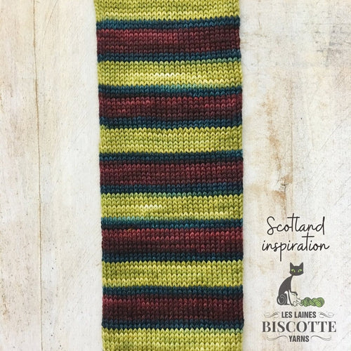 SELF-STRIPING yarn - Bis-Sock Scotland Inspiration