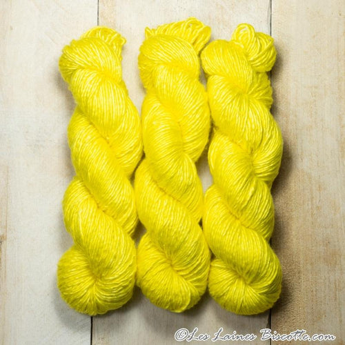 Albus - Merino & Silk Wool ♥ 1 ply knitting wool SOLEIL
