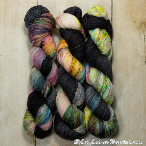 Bis-Sock yarn Sweet Dreams speckled hand-dyed yarn | 100g(2x50g) or 50g mini skein size