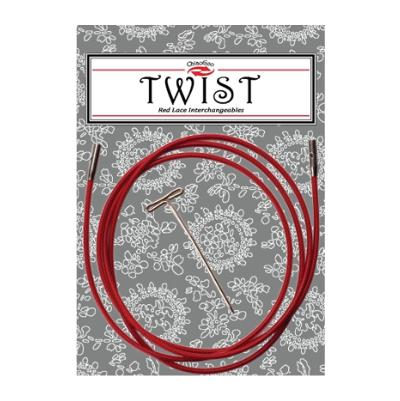 Câbles ChiaoGoo Twist Rouges