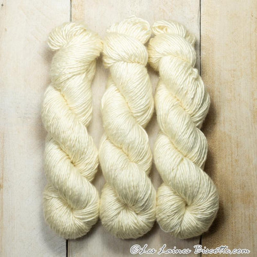 Albus - Merino & Silk Wool ♥ 1 ply knitting wool VANILLE