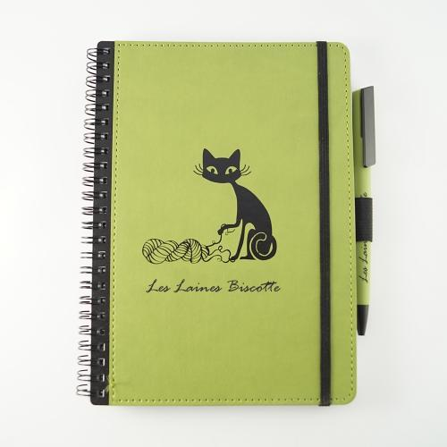 Biscotte Yarns Notebook & Pen