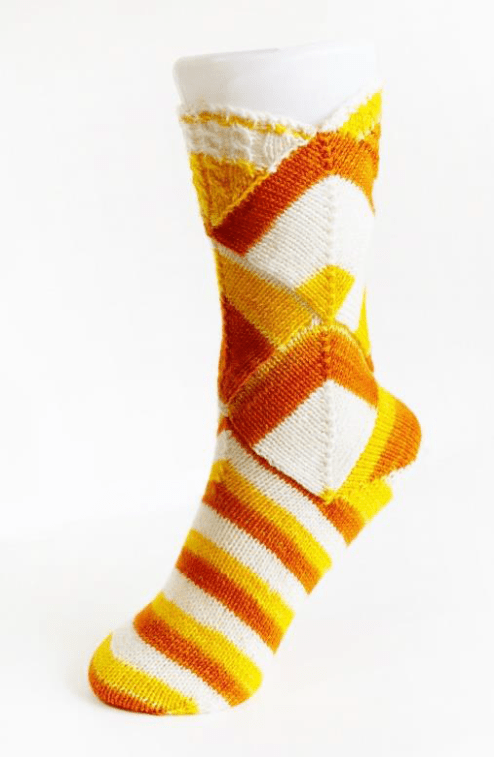 "The ""Candy Corn"" sock pattern"