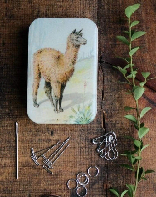 LAMA Magnetic box with knitting accessories