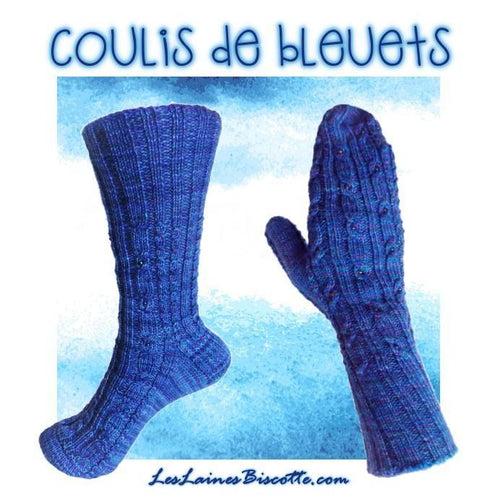 "Socks and mittens pattern ""Bleuberry coulis"""