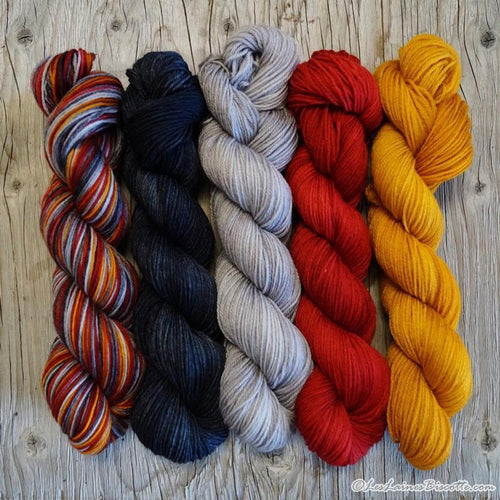 Assortment of Sorcerer Colour Paintbox Yarn knitting kit