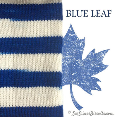 Bis-Sock Blue Leaf