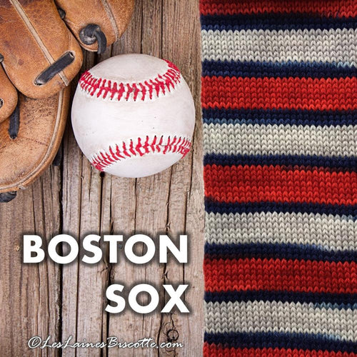 SELF-STRIPING yarn - Bis-Sock Boston Sox
