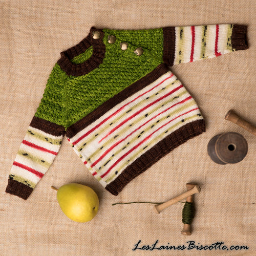 Knitting pattern for Baby - Apple Raglan Red Delicious