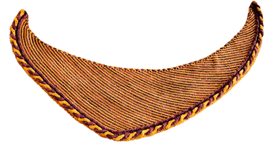 Knitting pattern - The Golden Snitch shawl