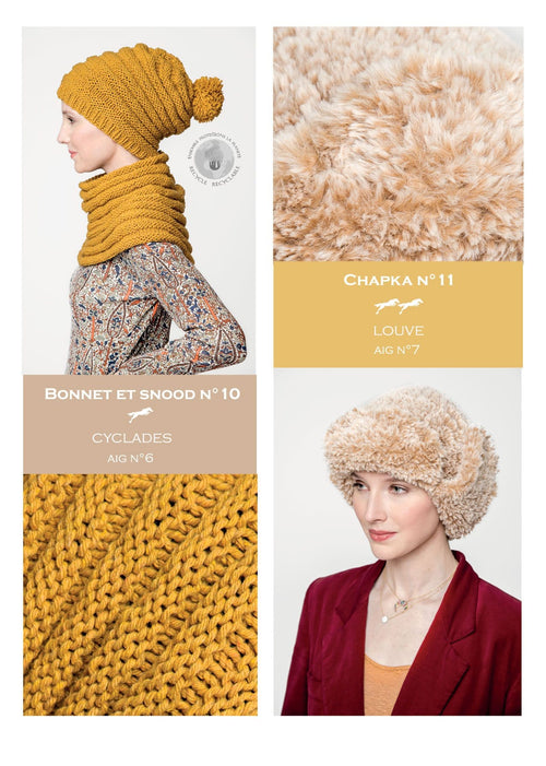 Patron Cheval Blanc Catalogue 28-10 - Bonnet et snood