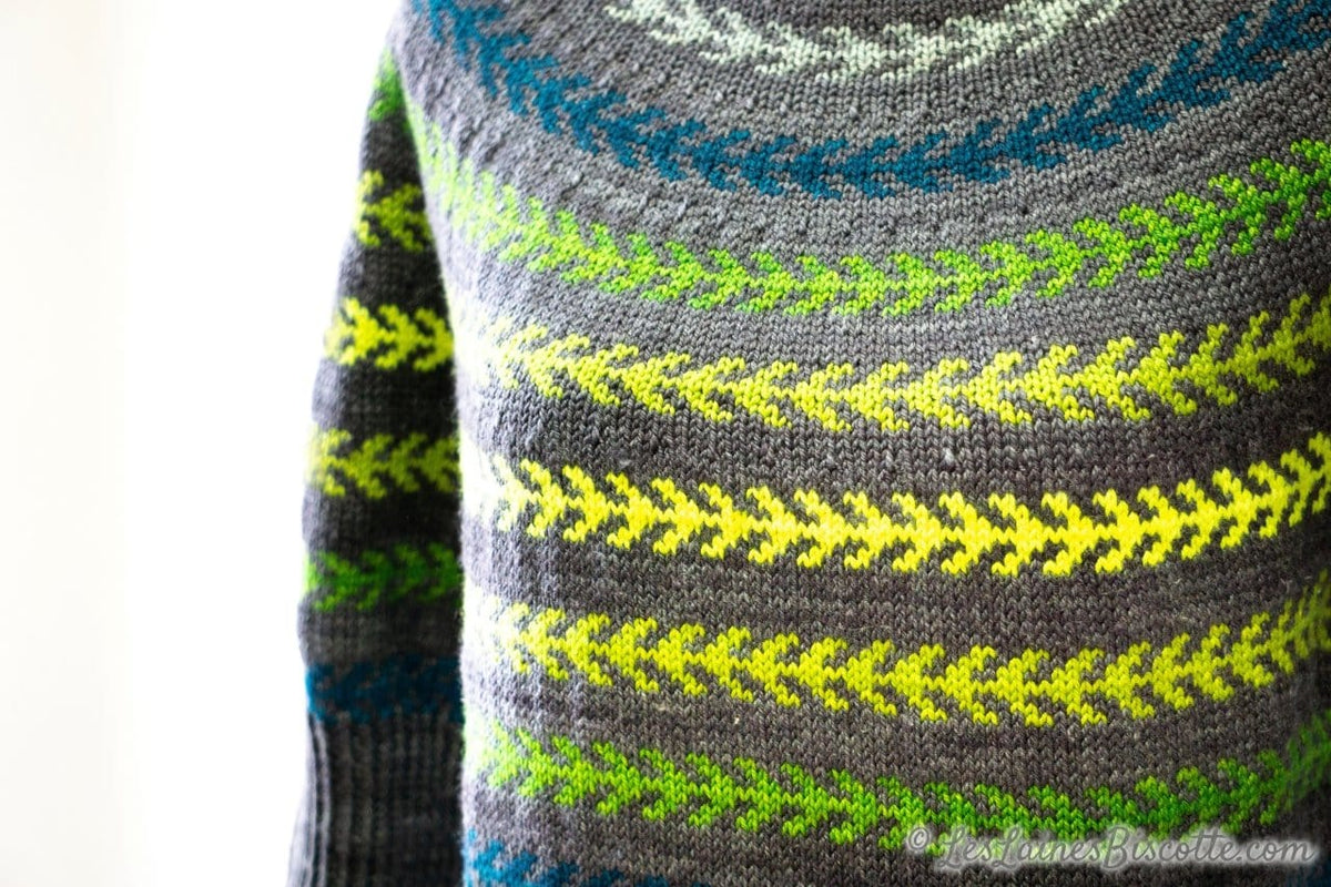 Seascape Sweater | Free Pattern form Andrea Yetman