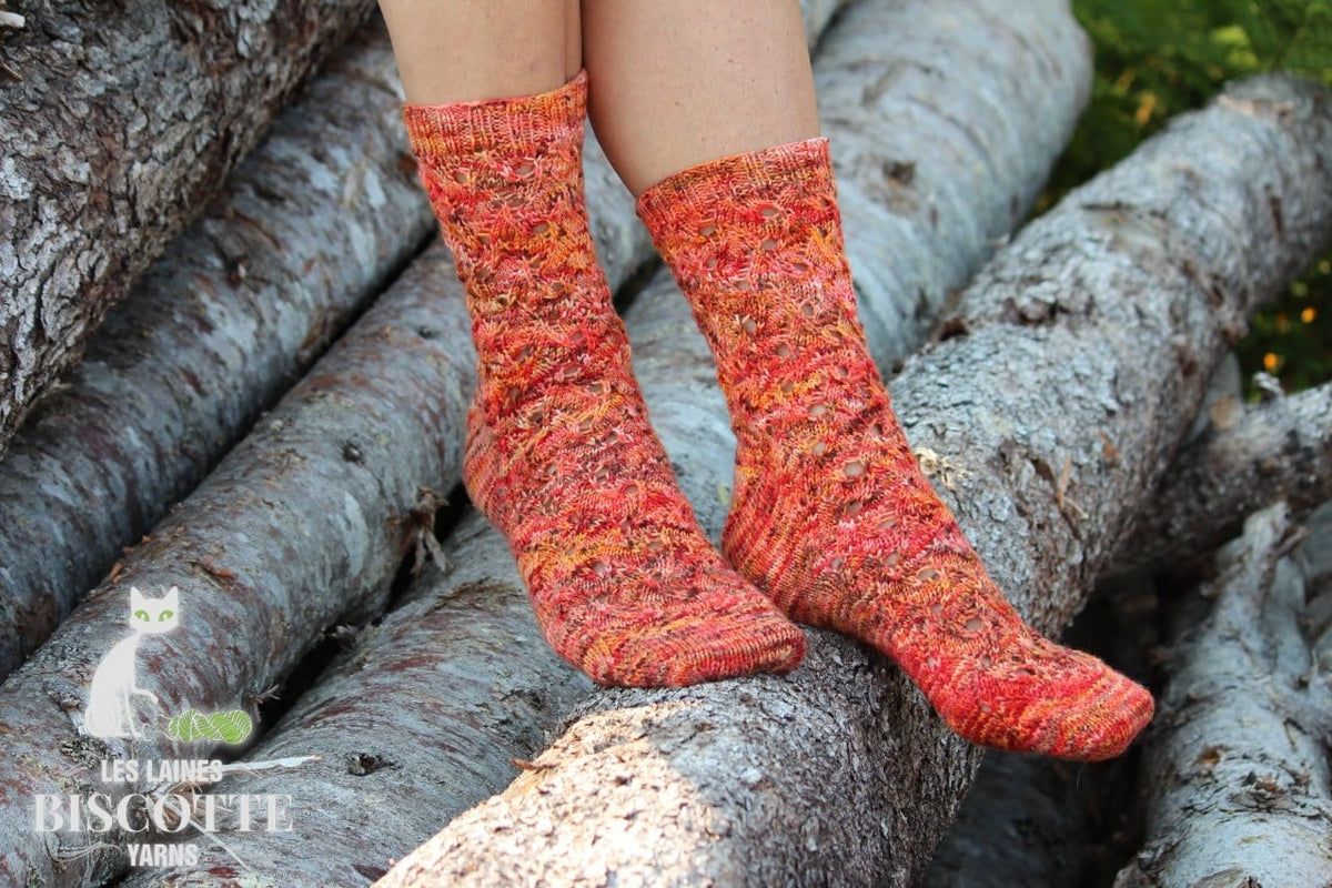 Flames of Bonfire - Free Sock Pattern