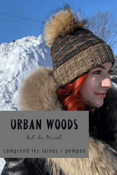 Chapeau Urban Woods | Kit de Tricot