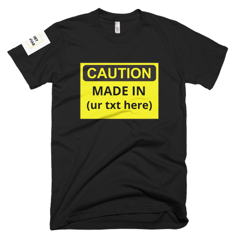 Adult Caution Customizable Shirt Unisex - Shirt Caviar