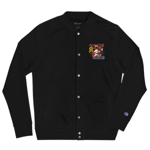 SUPER FIGHT Embroidered Champion Bomber Jacket