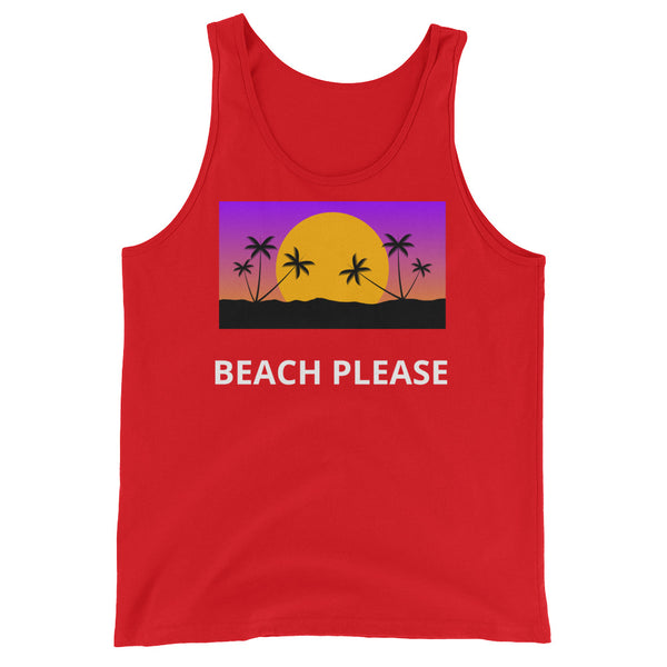 Beach Please! Unisex Tank Top - Shirt Caviar