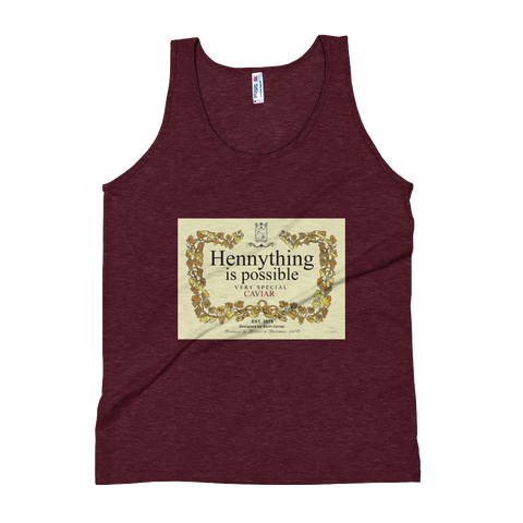 THE Hennything Is Possible  Unisex Soft Tri-Blend Tank - Shirt Caviar
