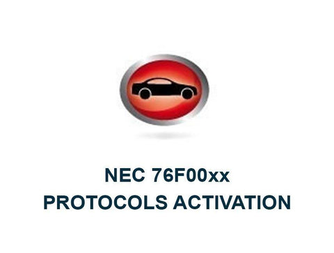 Master Protocols activation for NEC 76F00xx Toyota microprocessor