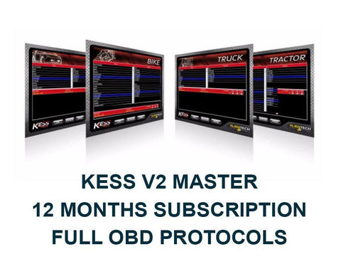 12 Months Subscription For Full OBD Protocols. Kess V2 Master