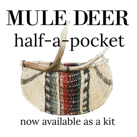 Mule Deer Antler Basket | Jill Choate Basketry