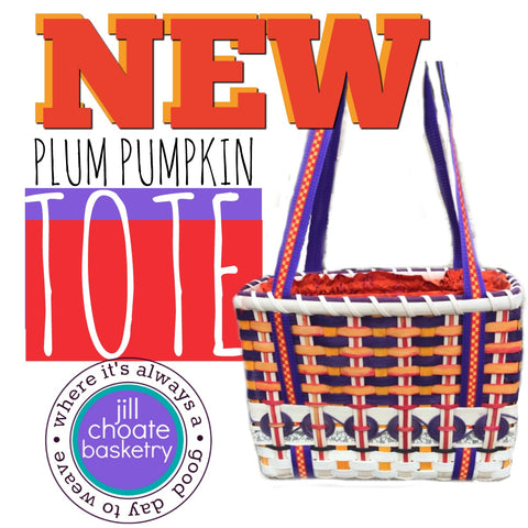 Plum Pumpkin Tote Basket | Jill Choate Basketry