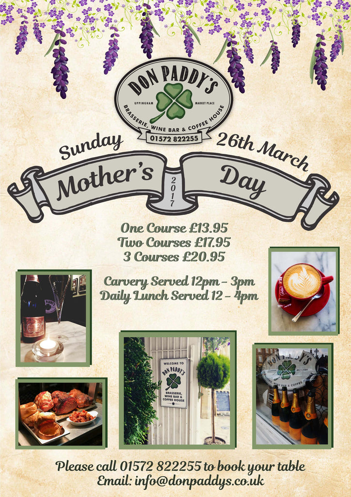 Mother's Day at Don Paddy's, 26th March